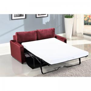 Knightsville Velvet 70″ Square Arms Sofa Bed