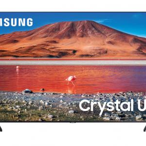 SAMSUNG 43″ Class 4K Crystal UHD (2160P) LED Smart TV with HDR UN43TU7000 2020