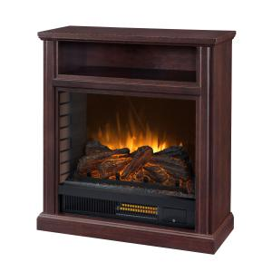 30-in Parkdale Mobile Infrared Media Electric Fireplace in Cherry