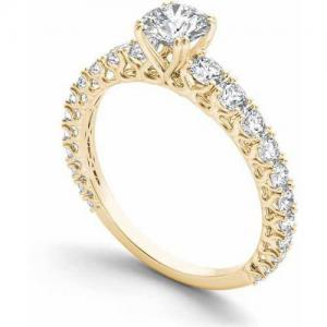 1 Carat T.W. Diamond Classic 14kt Yellow Gold Engagement Ring