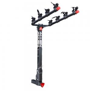 Allen Sports Deluxe Locking Quick Install 4-Bicycle Hitch Mounted Bike Rack Carrier, 542QR
