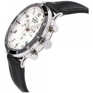 Shinola The Canfield Sport White Dial Leather Strap Unisex Watch 20089888