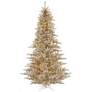 Vickerman 9′ Champagne Fir Artificial Christmas Tree with 1000 Warm White LED Lights