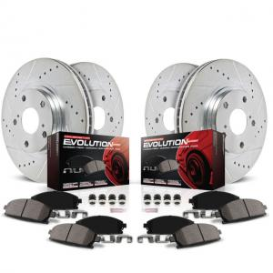 Power Stop Front and Rear Ceramic Brake Pad and Drilled and Slotted Rotor Kit K5927