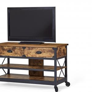 Better Homes & Gardens Rustic Country TV Stand for TVs up to 52″, Weathered Pine Finish