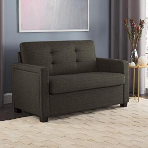 Better Homes and Gardens Porter Loveseat Sleeper Sofa, Gray Linen