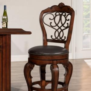 Hillsdale Furniture Burrell Wood Counter Height Swivel Stool, Brown Cherry