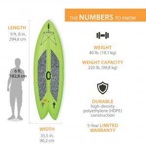 Lifetime Freestyle XL 9 ft 8 in Stand-up Paddleboard (w/Paddle), 90213