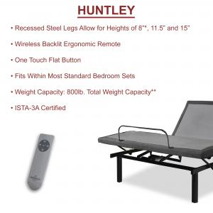 MAYTON, 3″ Adjustable Comfort Posture Bed Frame with Head Tilt, Wireless Remote, Head and Foot Incline (Twin)