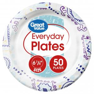 Great Value Everyday Plates, 6 7/8″, 50 Count