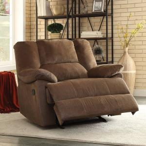 ACME Oliver Oversized Glider Recliner, Chocolate Corduroy