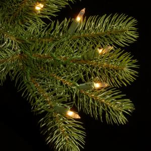 """National Tree 12′ """"Feel-Real"""" Downswept Douglas Hinged Tree with 1500 Clear Lights"""