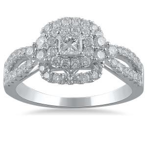 10KW BFJ 1 CTTW DIA CERTIFIED BRIDAL ENGAGEMENT RING