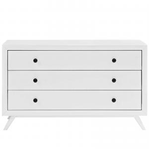 Modway Tracy Wood Dresser in White