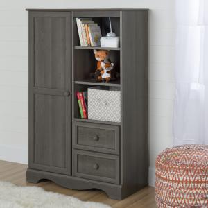 South Shore Savannah Armoire with Drawers, Multiple Colors
