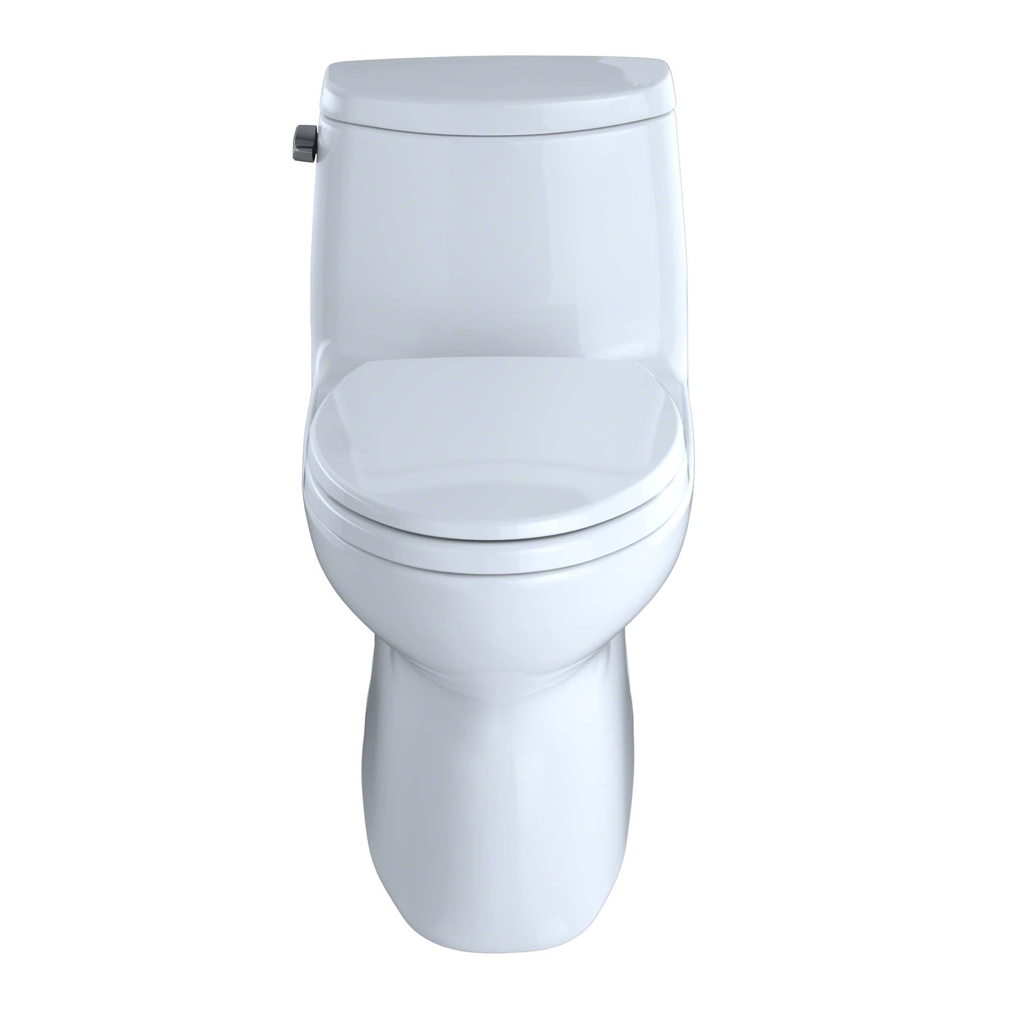 TOTO® Carlyle® II One-Piece Elongated 1.28 GPF Universal Height Skirted Toilet with CeFiONtect?, Cotton White – MS614114CEFG#01