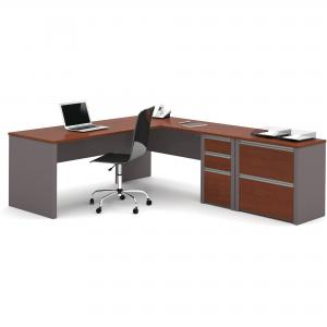 Bestar Connexion L-Shaped Workstation with Lateral File, Multiple Colors