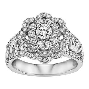 1 Carat T.W. Diamond 14kt White Gold Ring