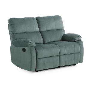 Dorel Living Weber Reclining Loveseat, Slate Green