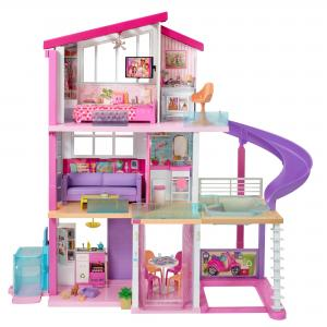 Barbie DreamHouse Dollhouse with Pool, Slide and Wheelchair Accessible Elevator, Gift for 3 to 7 Year Olds