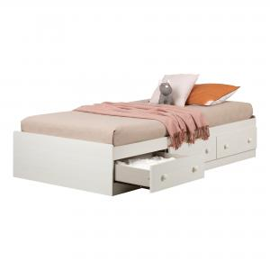 South Shore Summer Breeze 3-Drawer Storage Bed, Twin, Multiple Colors