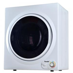 Panda 3.5 cu.ft Compact Portable Electric Laundry Dryer PAN760SF, 13 lbs Capacity, Control Panel Downside, White and Black