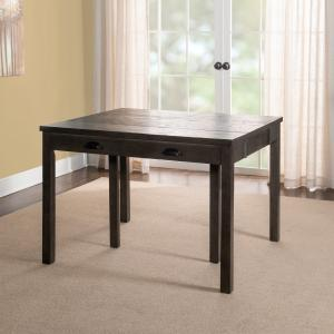 Powell Flynn Expandable Console Dining Table in Grey
