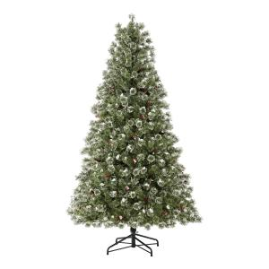 Holiday Time Pre-Lit Redland Spruce Artificial Christmas Tree, 7.5′, Clear