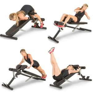 FITNESS REALITY X-Class Light Commercial Multi-Workout Adjustable Sit Up Hyper Back Extension Decline Ab Bench