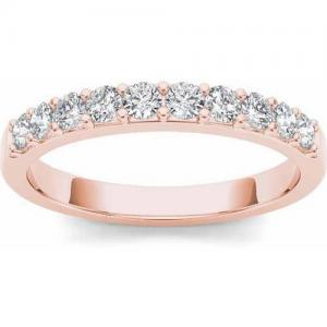1/2 Carat T.W. Diamond 14kt Rose Gold Wedding Band
