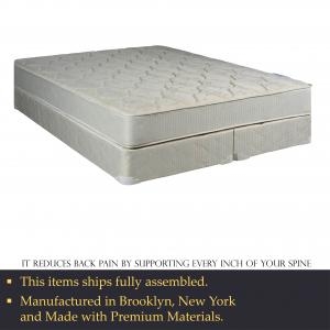 WAYTON, 9-Inch Gentle Firm Tight top Innerspring Mattress And Split Wood Traditional Box Spring/Foundation Set With Frame, King Size78″