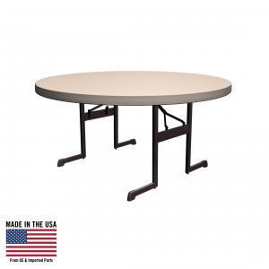 Lifetime Round Folding Table, Professional – 60 Inches, Putty, 80125