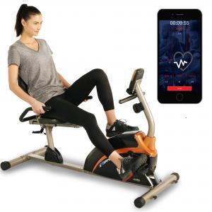 Exerpeutic 1500XL Magnetic Recumbent Exercise Bike with Bluetooth and Smart Cloud Fitness App