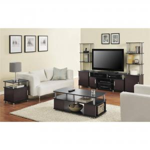 Carson TV Stand, for TVs up to 50″, Multiple Finishes – Black and Cherry