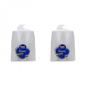 (2 pack) Great Value 16 oz Foam Cups, 60 count