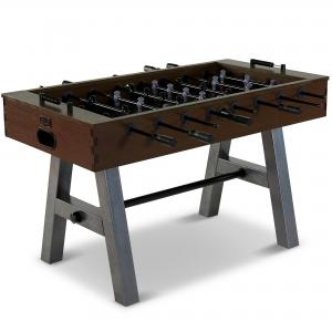 Barrington 56″ Evanston Foosball Soccer Game Table, Steel Leg Design, Brown