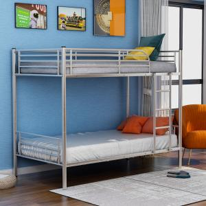 EUROCO Twin Over Twin Metal Bunk Bed, Multiple Colors