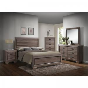 Acme Furniture Lyndon Weathered Gray Grain Dresser with Six Drawers