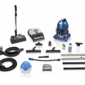 Ocean Blue Water Filtration Bagless Canister Vacuum Cleaner W. Shampooer Air Purifier & Attachments
