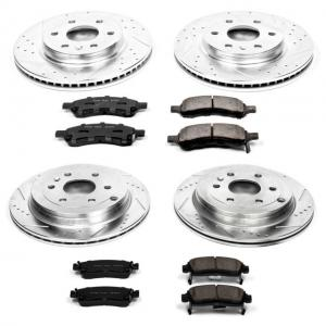 Power Stop Front and Rear Brake Kit with Drilled & Slotted Rotors and Ceramic Brake Pads K4466