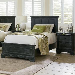 Farmhouse Basics Bed Set with Headboard, Footboard and Bed Rails, Multiple Sizes