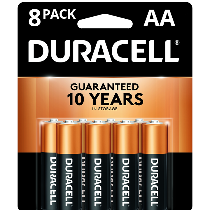 Duracell Coppertop AA Battery, Long Lasting Double A Batteries, 8 Pack