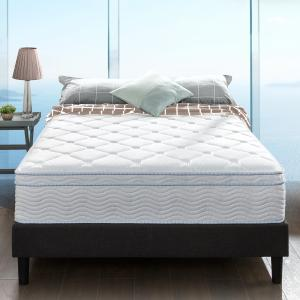 Slumber 1 by Zinus – Euro Top Cooling Fusion Gel and Spring Hybrid Mattress in White, 12″, Full