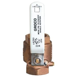 Groco IBV-4000 IBV Series Bronze Full Flow In Line Ball Valve with 4″ IPS Thread
