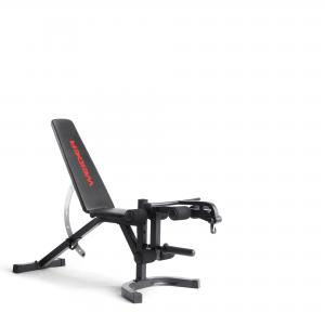 Weider Attack Series Olympic Workout Bench with Integrated Leg Developer and Removable Preacher Curl Pad