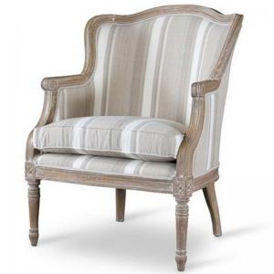 Baxton Studio Charlemagne Traditional French Accent Chair-Color:Tan