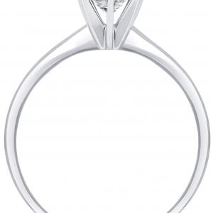 3/4 Carat T.W. Round Diamond 14K White Gold Solitaire Engagement Ring