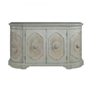HomeFare Credenza Sideboard or Buffet Weathered Green and Tan