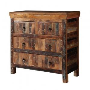 Coaster 4 Drawer Accent Cabinet in Reclaimed Wood