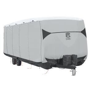 Classic Accessories Over Drive SkyShield™ Deluxe Water-Repellent Travel Trailer Cover, Fits 15′ – 18'L x 114″H, Model 0